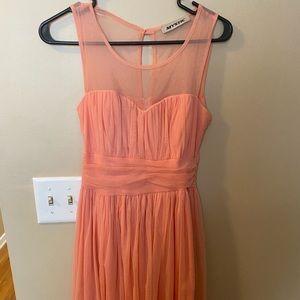 Knee length peach dress